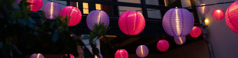 Nylon-Lampionnen-&-LED-String