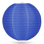 Nylon lampion donkerblauw 50cm