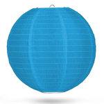 Nylon lampion lichtblauw 50cm