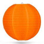 Nylon lampion oranje 50cm