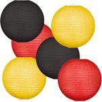 Lampionpakket - Flag Black Red Yellow - 30-delig P/L