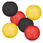 Lampionpakket - Flag Black Red Yellow - 30-delig P/M
