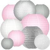 Lampionpakket - Pink & Silver - 40-delig
