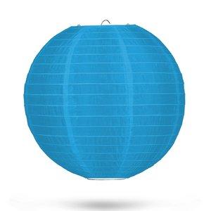 Nylon lampion lichtblauw 35cm