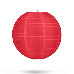 Nylon lampion rood 25cm