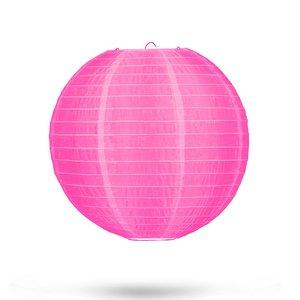 Nylon lampion roze 25cm