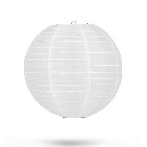 Nylon lampion wit 25cm