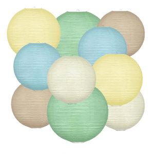 Lampionpakket - Natural Pastel - 40-delig