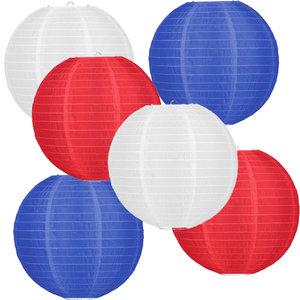 Lampionpakket - Flag Red White Blue - 30-delig N/L