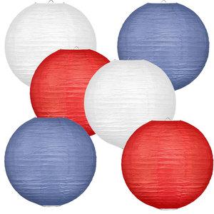 Lampionpakket - Flag Red White Blue - 30-delig P/S