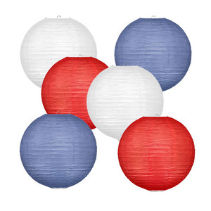 Lampionpakket - Flag Red White Blue - 30-delig P/M
