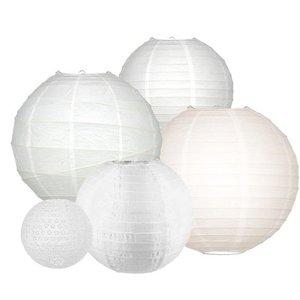 Lampionpakket - All White - 20-delig
