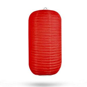 Lampion cilinder rood 20 x 35cm
