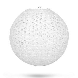 Lampion kant wit 35cm