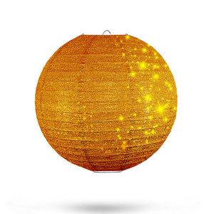 Lampion goud glitter 25cm