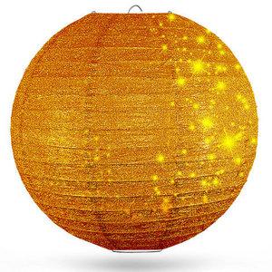 Lampion goud glitter 80cm