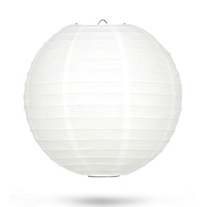 Lampion wit bamboe ring 35cm