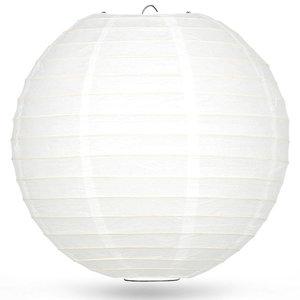 Lampion wit bamboe ring 80cm