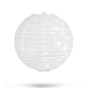 Lampion Wit Glitter 25cm