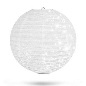 Lampion Wit Glitter 35cm