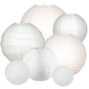 Lampionpakket - All White - 40-delig