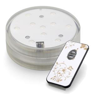 LED Base Helder wit met afstandbediening