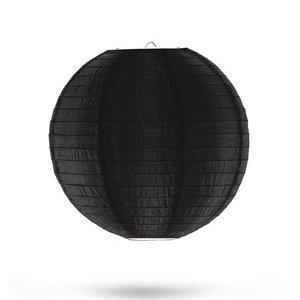 Nylon lampion zwart 25cm