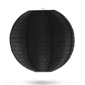 Nylon lampion zwart 35cm
