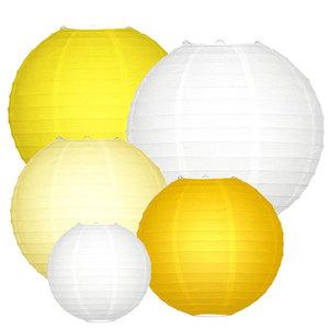 Lampionpakket - Geel - 20-delig