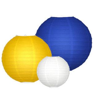 Lampionpakket - Navy blue & Yellow - 10-delig