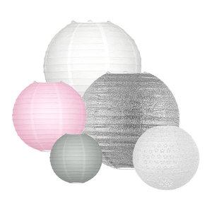 Lampionpakket - Pink & Silver - 20-delig