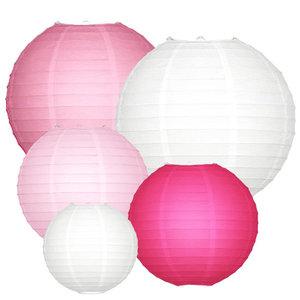 Lampionpakket - Roze - 20-delig