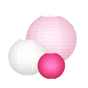 Lampionpakket - Roze - 10-delig