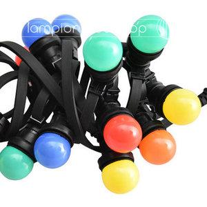 Zwarte prikkabel - 20 meter - inclusief LED lampen