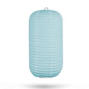 Lampion cilinder kristalblauw 20 x 35cm