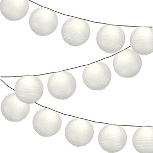 Lampionpakket - Wit - 20-delig - incl. LED string